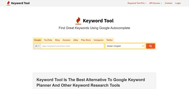 ابزار Keyword Tool.io