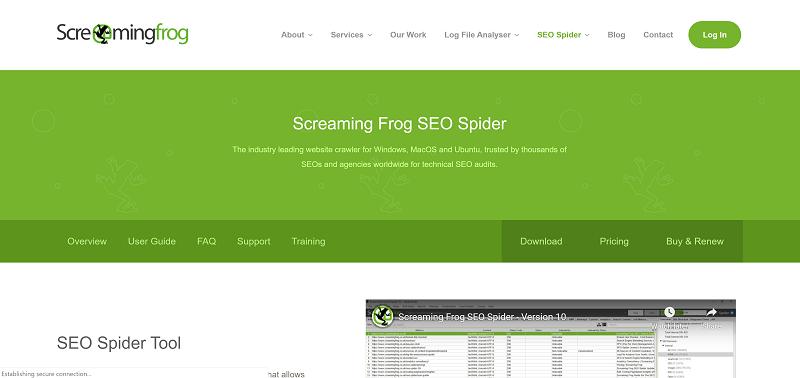 ابزار آنالیز سئو Screaming Frog